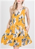 PLUS SIZE - D2917NIAD FLORAL DRESS WITH SIDE POCKETS 2-2-2