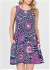 PLUS SIZE - SD1005-11 MULTI PRINT DRESS WITH SIDE POCKETS 2-2-2