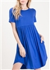 PLUS SIZE - SD1038S SOLID DRESS WITH SIDE POCKETS 2-2-2
