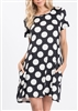 PLUS SIZE - SD1081-31 POLKA DOT DRESS WITH SIDE POCKETS 2-2-2