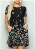 PLUS SIZE - SD1081-56 FLORAL DRESS WITH SIDE POCKET 2-2-2