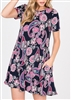 PLUS SIZE - SD1081-91 PAISLEY PRINT DRESS WITH SIDE POCKETS 2-2-2