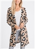 PLUS SIZE SJ1046-12 LEOPARD ANIMAL PRINT CARDIGAN 2-2-2