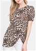 ST1018-11 ANIMAL PRINT TOP WITH SEQUINS POCKET 2-2-2