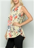 ST1085-15 FLORAL PRINT TUNIC TOP 2-2-2