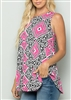 PLUS SIZE - ST1085-33 MULTI PRINT TOP 2-2-2