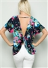 ST1189-31 FLORAL TOP WITH TWISTED OPEN BACK 2-2-2