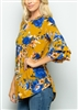 ST1347-10 BELL SLEEVE FLORAL PRINT TOP 2-2-2