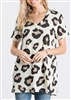 ST1519-12 V NECK LEOPARD ANIMAL PRINT TOP 2-2-2
