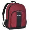 #BP2072-BURGUNDY Wholesale Backpack with Front & Side Pockets - Case of 30 Backpacks