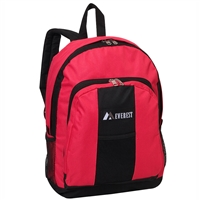 #BP2072-HOT PINK Wholesale Backpack with Front & Side Pockets - Case of 30 Backpacks