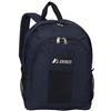 #BP2072-NAVY Wholesale Backpack with Front & Side Pockets - Case of 30 Backpacks
