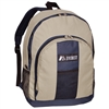 #BP2072-KHAKI/NAVY Wholesale Backpack - Case of 30