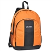 #BP2072-ORANGE Wholesale Backpack with Front & Side Pockets - Case of 30 Backpacks