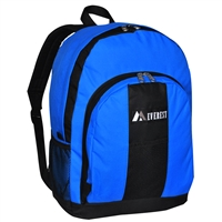 #BP2072-ROYAL BLUE Wholesale Backpack with Front & Side Pockets - Case of 30 Backpacks