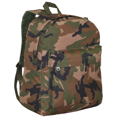 #C2045CR-CAMO Wholesale Classic Woodland Camo Backpack - Case of 30