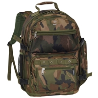 #C3045R-CAMO Wholesale Oversized Woodland Camo Backpack - Case of 20 Backpacks