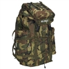 #C8045D-CAMO Wholesale Woodland Camo Hiking Backpack - Case of 10 Hiking Backpacks