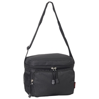 #CB6-BLACK Wholesale Cooler / Lunch Bag - Case of 20 Lunch Bags