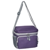 #CB6-EGGPLANT Wholesale Cooler / Lunch Bag - Case of 20 Lunch Bags