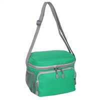 #CB6-EMERALD GREEN Wholesale Cooler / Lunch Bag - Case of 20 Lunch Bags