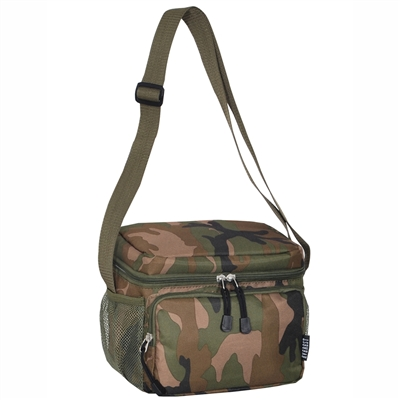 #CB6P-CAMOUFLAGE Wholesale Cooler / Lunch Pattern Bag - Case of 20