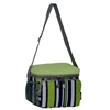 #CB6P-LIME/NAVY STRIPE Wholesale Cooler / Lunch Pattern Bag - Case of 20