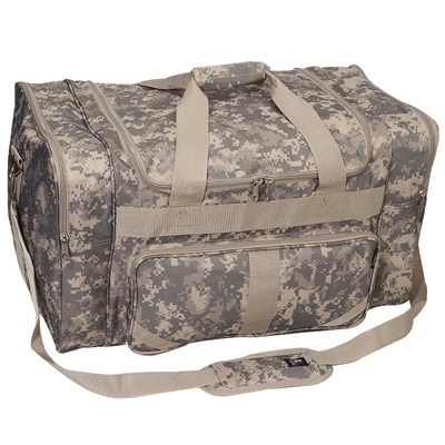 #DC1027-DCAMO Wholesale 27-inch Digital Camo Duffel Bag - Case of 10 Duffel Bags