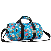 #P1609-DONUTS Wholesale 16-inch Pattern Round Duffel Bag - Case of 40 Duffel Bags