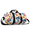 #P1609-TROPICAL Wholesale 16-inch Pattern Round Duffel Bag - Case of 40 Duffel Bags