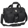 #S223-BLACK Wholesale 18-inch Gym Bag with Wet Pocket - Case of 20 Gym Bags