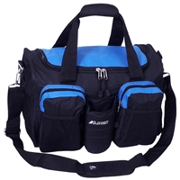 #S223-ROYAL BLUE Wholesale 18-inch Gym Bag with Wet Pocket - Case of 20