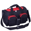 #S223-RED Wholesale 18-inch Gym Bag with Wet Pocket - Case of 20 Gym Bags
