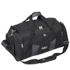 #S229-BLACK/GRAY Wholesale 24-inch Deluxe Sports Duffel Bag - Case of 10 Duffel Bags