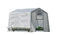 Shelter Logic Grow it Greenhouse-in-a-Box Easy Flow Translucent Cover Greenhouse, Peak, 10'  x 10' x 8' / Model 70656