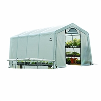 Shelter Logic Grow it Greenhouse-in-a-Box Easy Flow Translucent Cover Greenhouse Peak 10' x 20' x  8' / Model 70658