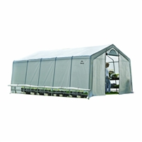 Shelter Logic Grow it Heavy Duty Walk-Thru Greenhouse, Peak, 12' x 24' x 8' / Model 70591