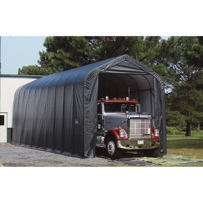 ShelterLogic 15' Wide x 40' Length x 16' Height Peak Style Shelter Grey Shed / Model 95843