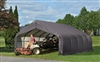 ShelterLogic 18' Wide x 28' Length x 10' Height Peak Style Shelter Grey Shed / Model 80005