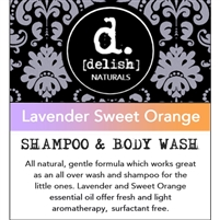 "<font size=""3""><b>Delish-ious Shampoo & Body Wash Lavender Sweet Orange</b></font>"