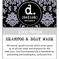 "<font size=""3""><b>Delish-ious Shampoo & Body Wash Lice Ninja</b></font>"