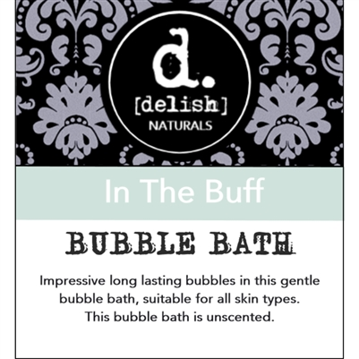 "<font size=""3""><b>Delish-ious Bubble Bath ""In the Buff""</b></font>"
