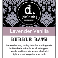 "<font size=""3""><b>Delish-ious Bubble Bath ""Lavender Vanilla""</b></font>"