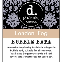 "<font size=""3""><b>Delish-ious Bubble Bath ""London Fog""</b></font>"