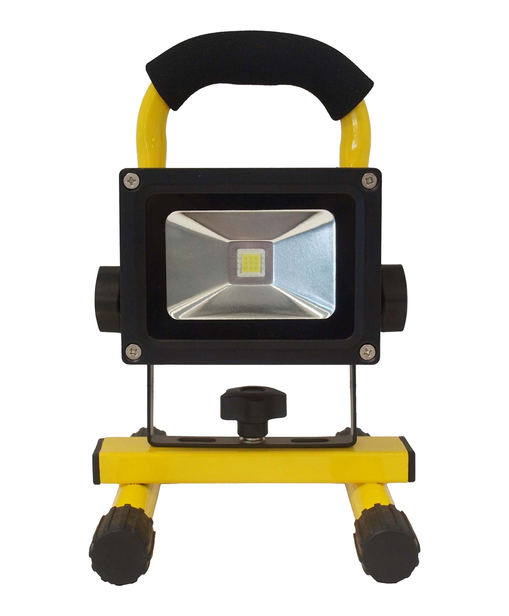 led safety 10 watt rechargeable work light 4 hour run time ultra bright. Black Bedroom Furniture Sets. Home Design Ideas