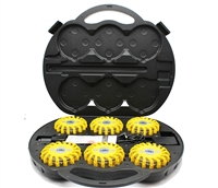 LED Super Flares-Yellow e  6 pack in rechargeable Kit