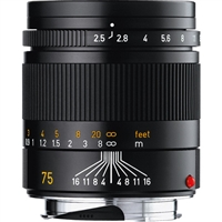 Leica 75mm f/2.5 Summarit-M Manual Focus Lens (Black)