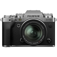 FUJIFILM X-T4 Mirrorless Digital Camera with 18-55mm Lens (Silver)