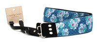 "Brand New Capturing Couture Peony Blue 2"" Wide SLR, DSLR Camera Strap 19967"