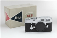 Very Clean Leica M3 SS 35mm Film Rangefinder Camera Body w/ Box  27302 (On Hold)